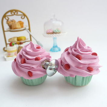 cupcakes knobs Baby Nursery Dresser, Drawer Knobs , Nursery Dresser knobs ,Girls Room knobs, Kids  Knobs ,Cabinet Furniture Pulls Handles