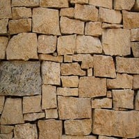 Brown Stone Piled Brick Wall Texture Backdrop - 6254