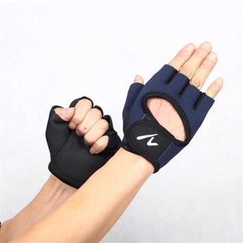 Men's Half Finger Gloves Outdoor Fitness Hand Palm Protector Gym Sport#W21
