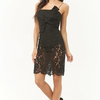 Lace Bow Cami Dress