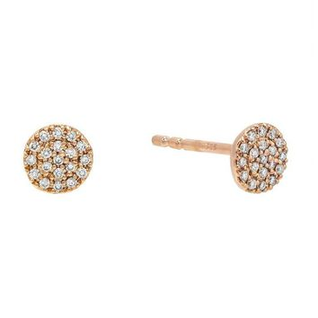 Diamond Disc Studs 14KT