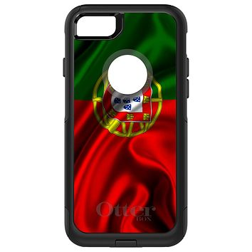 DistinctInk™ OtterBox Commuter Series Case for Apple iPhone or Samsung Galaxy - Portugal Waving Flag