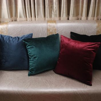 Solid Luxury Velvet Pillow Covers
