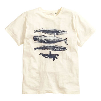 H&M T-shirt with Printed Design $5