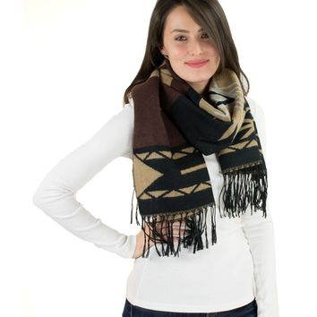 Large Aztec Patterned Scarf