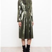 LOEWE   Pleated Dress   brownsfashion.com   The Finest Edit of Luxury Fashion   Clothes, Shoes, Bags and Accessories for Men & Women