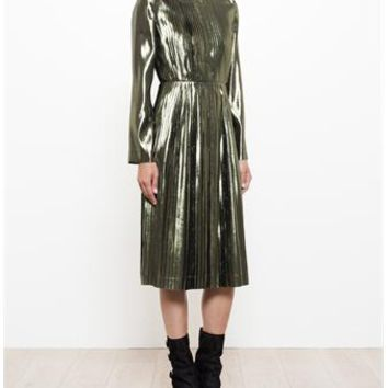 LOEWE | Pleated Dress | brownsfashion.com | The Finest Edit of Luxury Fashion | Clothes, Shoes, Bags and Accessories for Men & Women
