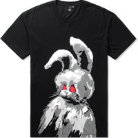 McQ Alexander McQueen Thunder Black Angry Bunny Dropped Shoulder T-Shirt | HYPEBEAST Store. Shop Online for Men's Fashion, Streetwear, Sneakers, Accessories