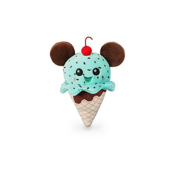 Disney Parks Mickey Mouse Ice Cream Cone Wishables Plush Micro New with Tags