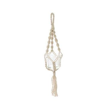 "SOUL OF THE PARTY 12"" MACRAME PLANT HANGER"