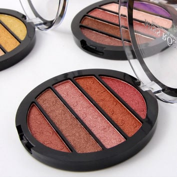 T Miss Rose Brand New Eyes Makeup 5 Colors Eyeshadow Palette Makeup Shimmer Eye Shadow Palette Colorful Pigment