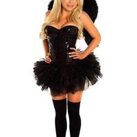 Daisy 4 PC Sexy Sequin Dark Angel Costume