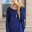 Simple And Soft Sweater Navy