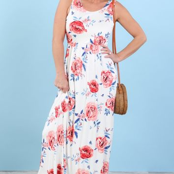 Lindsey Floral Tank Maxi Dress | S-XL
