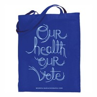 Obama for America | 2012 | Store | Our Health Our Vote Obama Navy Tote