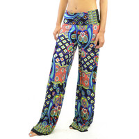 Kaleidoscope Dream Blue Palazzo Pants