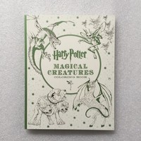 Harry Potter Magical Creatures Coloring Book  Secret Garden Style Coloring Book Adult Stress Relieve Drawing Book