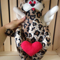 Flying Cat Tiger Cat with angel wings stuffed animal cat handmade toys soft toy high quality fabric gift children birthday home decor