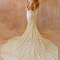 Alice Backless Lace Gown