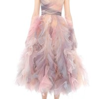 Marchesa Watercolor Tulle Dress | Nordstrom