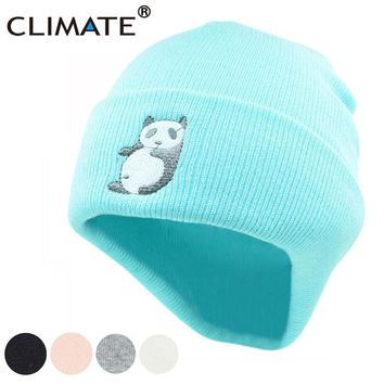 Women Winter Warm Beanie Hat Lovely Cute Panda
