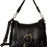 See by Chloe Womens Joan Suede & Leather Small Shoulder Bag