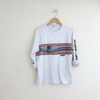 vintage white PUMA long sleeve shirt. cotton tee shirt