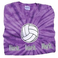 Tandem Live It, Love It, Play It Tiedye Volleyball T-Shirt