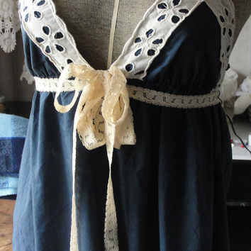 Gypsy Boho bohemian lace top shabby chic, cottage chic, romantic