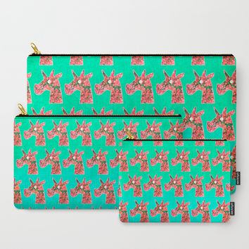 Bougainvillea Unicorn Carry-All Pouch by That's So Unicorny
