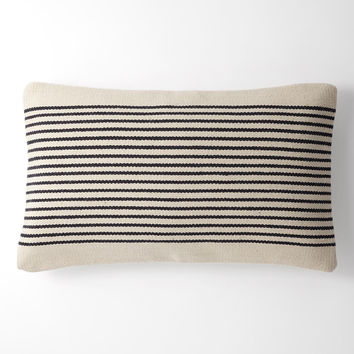 Woven Mohair Striped Pillow Cover