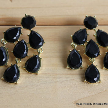 Black Statement Earrings Kate Spade Earring Stud,Wedding Bridesmaids Gifts,Free Gift Box Packaging Available