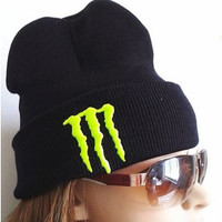 Neon Green Yellow MONSTER ENERGY Beanie or Snapback Hat