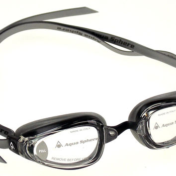 Michael Phelps K180+ Goggles Mens Silver Clear Curved Lens UVA UVB Italy 173060