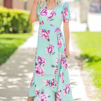 Wrapped in Style Floral Print Dress