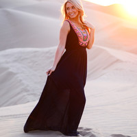 THE FUTURE IS BRIGHT MAXI DRESS IN NAVY
