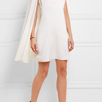 Valentino - Cape-back wool-crepe mini dress