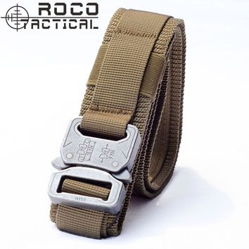 ROCOTACTICAL Tactical Belt Operator Pistol Gun Belt Tactical Molle Padded Patrol Belt Tactical Sports Belts 2 Colors