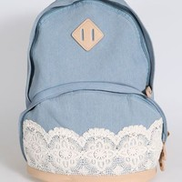 New Denim Authentic Lace Backpack on Luulla