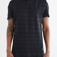 ZANEROBE Uppercut Geo Sleeveless Hooded Sweatshirt- Black