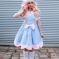 Pastel blue Sweet Lolita dress
