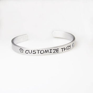 Custom bracelet personalized hand stamped engraved bracelet personalize bracelet personalized cuff Christmas gift stocking stuffer