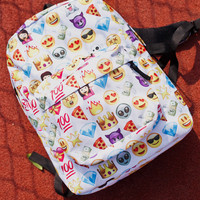 Cute Pattern Double Shoulder Bag Laptop Bag School Backpack Travel Bag