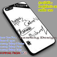 Signatures   5sos   Harry Styles iPhone 6s 6 6s+ 6plus Cases Samsung Galaxy s5 s6 Edge+ NOTE 5 4 3 #music #5sos dl2