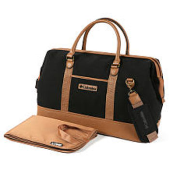 Columbia Ridgestone™ Weekender Diaper Bag/Black - Tan