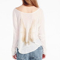 Double Angle Wings Pattern Long Sleeve Blouse