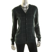 Inhabit Womens Knit Button-Front Cardigan Sweater