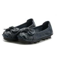 Butterfly Knot Woven Soft Retro Flat Shoes
