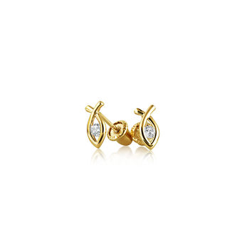 Bling Jewelry Ichthys Safety Studs