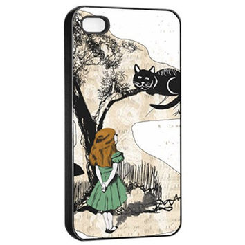 Alice In Wonderland And Cheshire Cat iPhone 4/4S Case